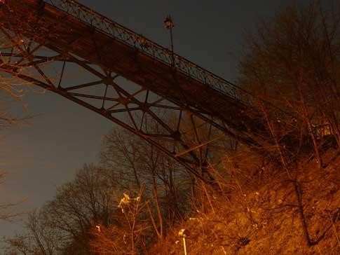 Мост влюбленных, мариинский парк