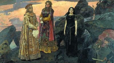 В.М. Васнецов (1848-1926). Три царевны подземного царства.